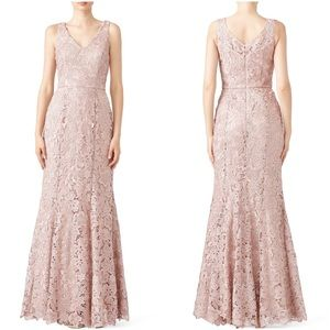 JS Collections Lace Mermaid Gown V Neck NWT $348 2